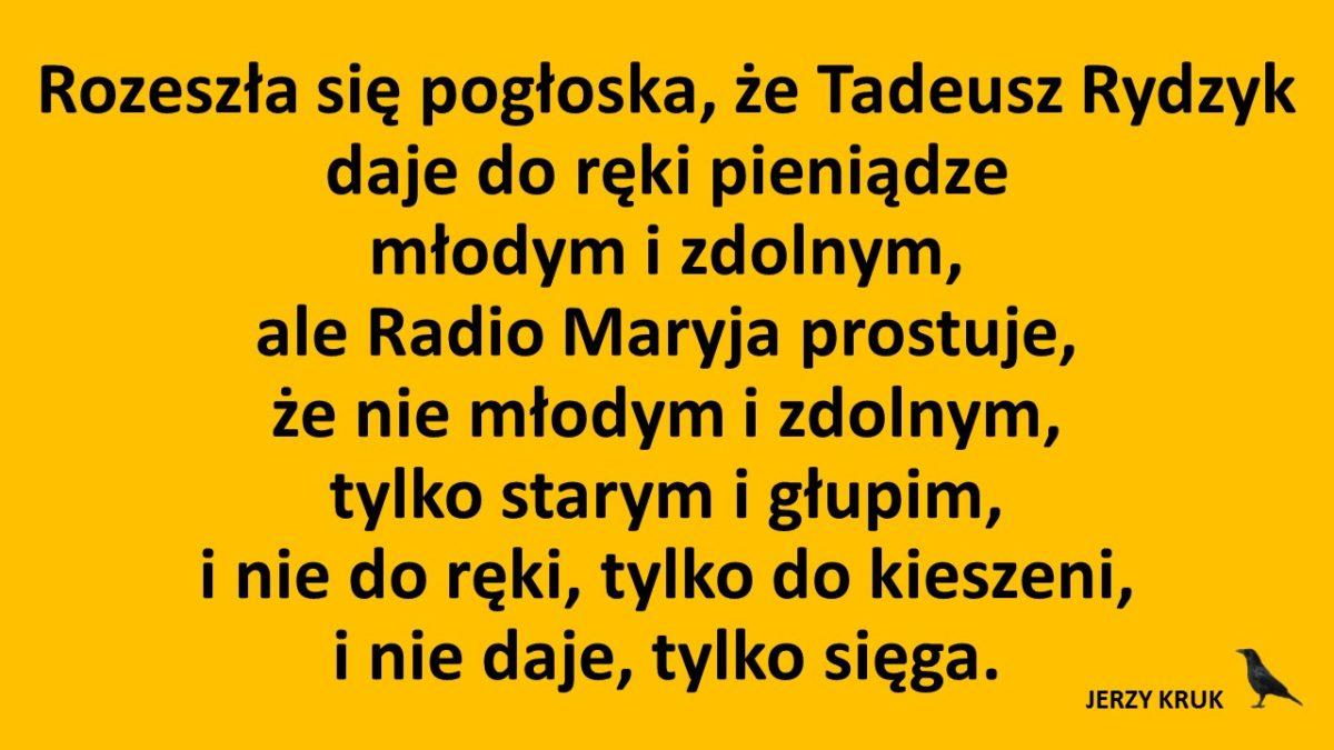 Radio Maryja donosi. Młodym i zdolnym
