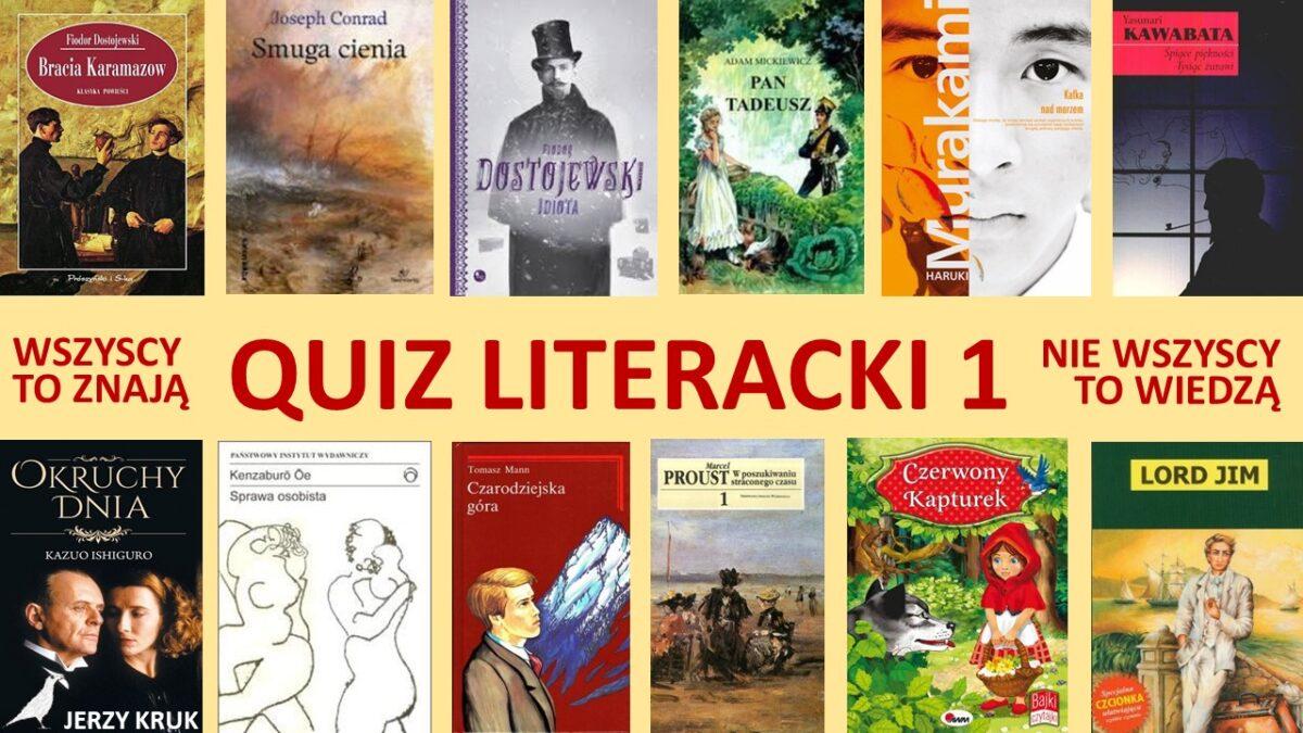 Quiz literacki 1