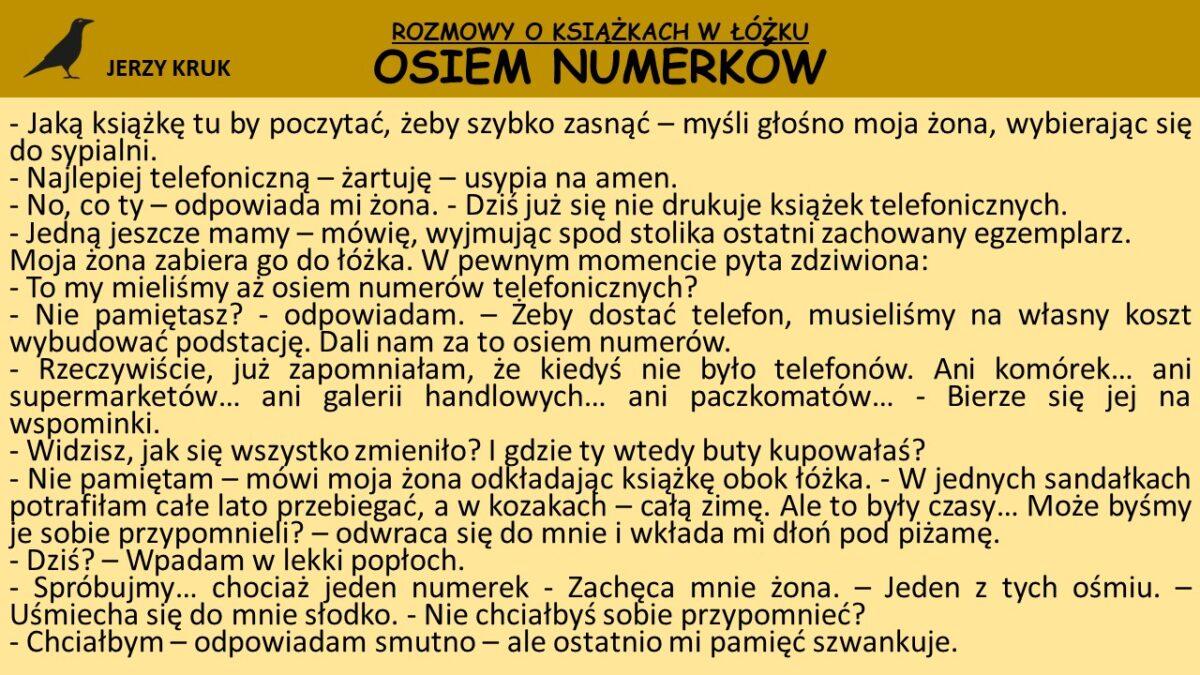 Osiem numerków